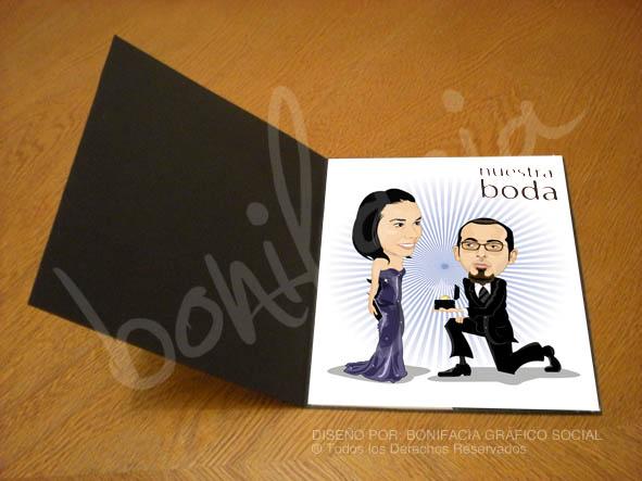 Invitaciones de boda originales con dibujos - Tarjetas de invitacion de boda originales ...
